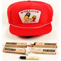 McGill Club Baseball Cap and 4 NIB Promo Lighters