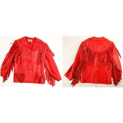 Red Leather Jacket Worn at McGill Club, NV