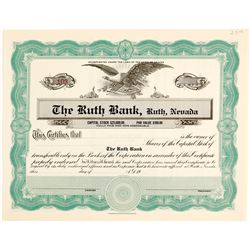 Ruth Bank, NV Rare Stock Certificate