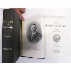 History of Nevada Vol 1 and 2 by Davis