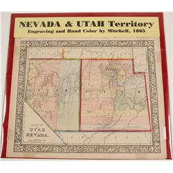 Map of Nevada & Utah Territory