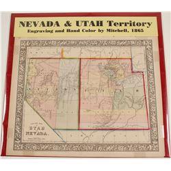 Map of Nevada & Utah Territory