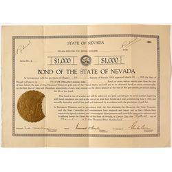 Nevada Bond with Governor Boyle Signature