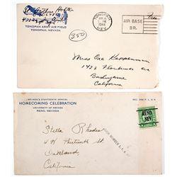 Nevada Postal Covers