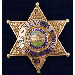 Nevada Security & Patrol Badge
