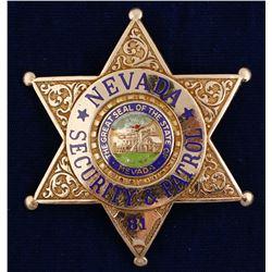 Nevada Security & Patrol Badge
