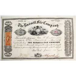 Rare Russell File Co. Stock Certificate