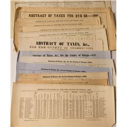 Otsego NY Abstract of Taxes 1840-1864 Assortment