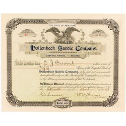 Hollenbeck Bicycle Saddle Company Stock Certificate