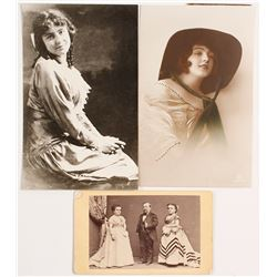 PT Barnum, Tom Thumb CDV plus Photos of Early Actresses
