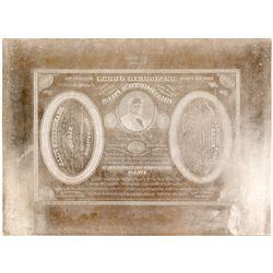 Brandreth's Pills Printers Plate