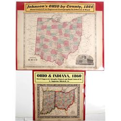 Maps of Ohio and Indiana