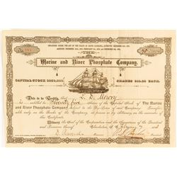 Marine & River Phosphate Company Stock issued to Blockade Runner