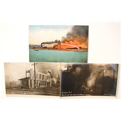 Three Washington State Fire Postcards incl. Real Photo