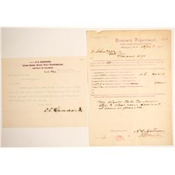 Wyoming Legal Document and Treasury Dept. Draft