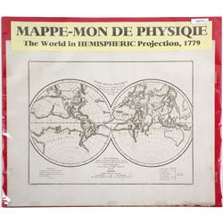 World in Hemispheric Projection