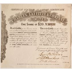 Charles Laffitte and Company Share Certificate