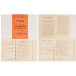 Cyclorama of Jerusalem Guide and Appeal Letter from Israel