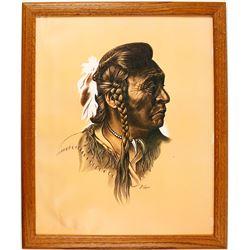 M. Yellis Print of Native Chief