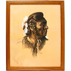 M. Yellis Print of Native Chief