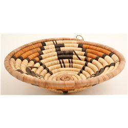 Hopi Basket w/ Horse/Deer Design