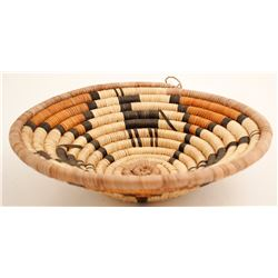 Hopi Basket w/ Horse/Deer Design