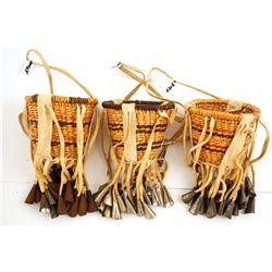 3 Western Apache Burden Baskets