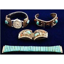 Four Vintage Watchbands