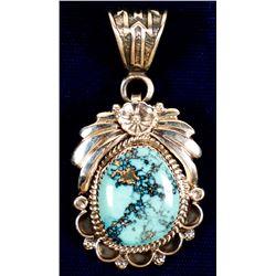 Lavender Blue Turquoise Pendant