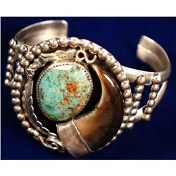 Turquoise/Bearclaw Bracelet