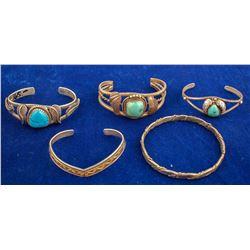 Five Vintage Bracelets