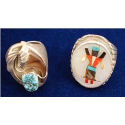 Two Vintage Native American Rings