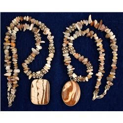 Two Zebra Jasper Necklaces