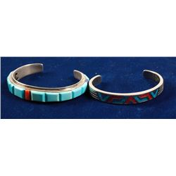Turquoise and Coral Bracelets