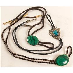 Malachite and Turquoise Bolos (3)