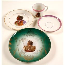 """""""Wolf Robe"""" Plates, Cup & Saucer"""