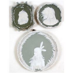 Native Amerian Green Jasperware