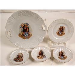 Native American Chiefs Dessert Set
