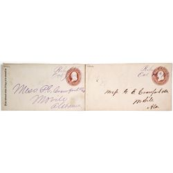 Two Manuscript Postage Cancels from Riley, Alabama
