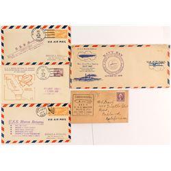 Five USS Macon Covers