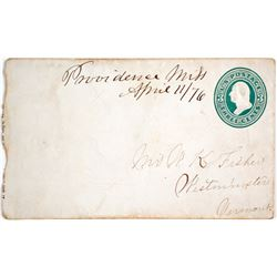 1876 Manuscript Cancel from Providence, Mississippi