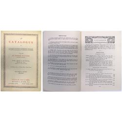 Rare Philatelic Auction Catalog, Scott & Barr, 1935