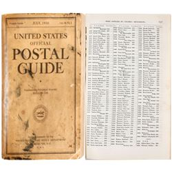 U.S. Official Postal Guide (Book)
