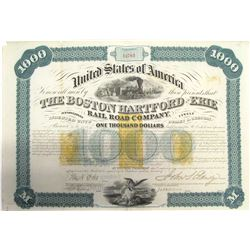 Boston, Hartford & Erie Railroad Co. Revenue-Imprinted Bond