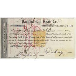 Panama Rail Road Co. Revenue-Imprinted Stock Certificate
