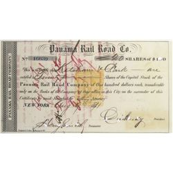 Panama Rail Road Co. Revenue-Imprinted Stock Certificate