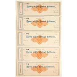 Agency of The Bank of California RND Unused Checks
