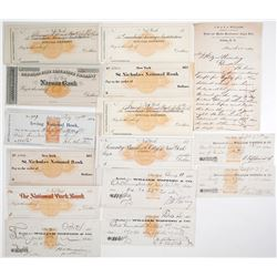 Imprinted Revenue Stamped Check Collection