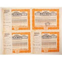 Bank of Manitou Certificates (4)