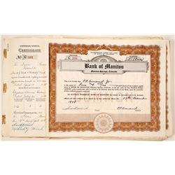 Bank of Manitou Certificates (85)